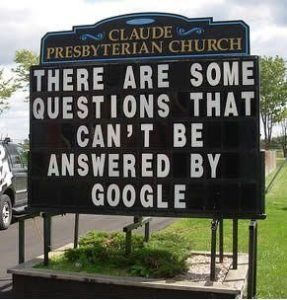 """""""Can't be answered by Google"""""""
