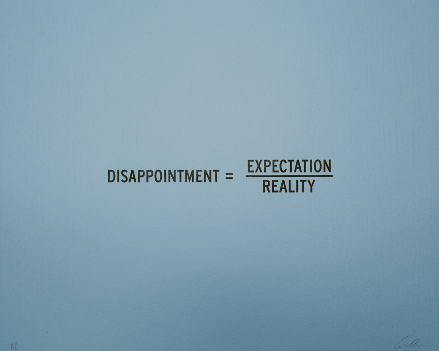 Disappointment = Expectation / Reality